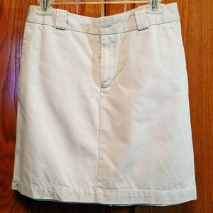 GAP - XG632 KHAKIS FLAT FRONT MINI SKIRT